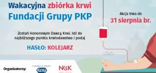 """Ogólnopolska zbiórki krwi na hasło """"KOLEJARZ"""""""